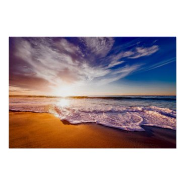 Beach Themed Beautiful California by storeman Poster
