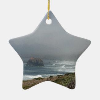Beautiful California Coast Scenery by the Ocean Ceramic Ornament