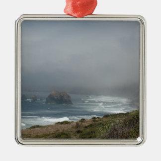 Beautiful California Coast Scenery by the Ocean Metal Ornament