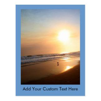 Beautiful California Ocean Sunset Postcard