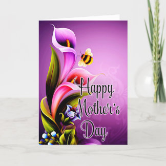 Beautiful Calla Lily Flowers Mother's Day Card