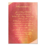 Beautiful Calla Lily Wedding Insert Card Personalized Announcements