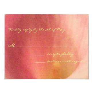 Beautiful Calla Lily Wedding RSVP Yellow Font Card