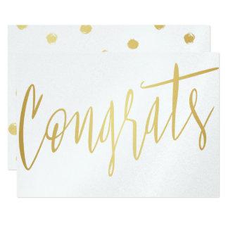 "Beautiful Calligraphy Gold ""Congrats"" Card"