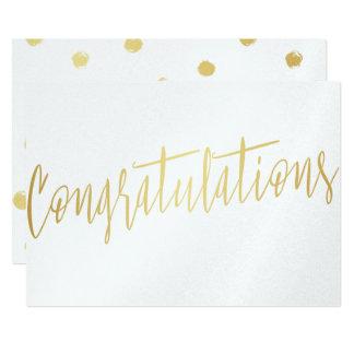 "Beautiful Calligraphy Gold ""Congratulations"" Card"