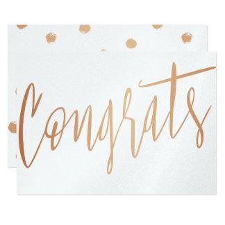 """Beautiful calligraphy gold rose """"Congrats"""" Card"""