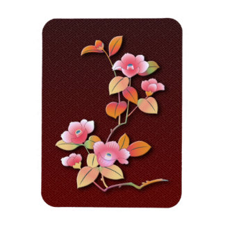 Beautiful camellia branch magnet