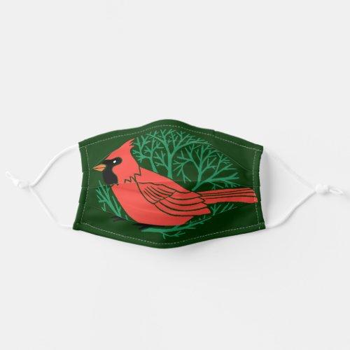 Beautiful Cardinal Bird Cloth Face Mask