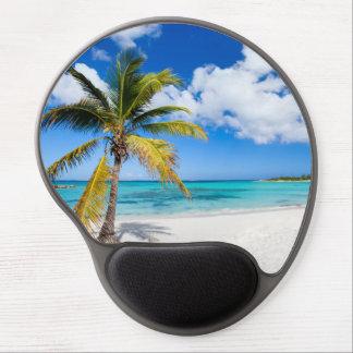 Beautiful Caribbean beach Gel Mouse Pad