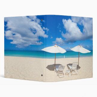 Beautiful Caribbean beach Vinyl Binder