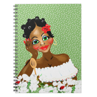 Beautiful Caribbean Cook Nana illustration gifts Spiral Note Book