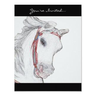 Beautiful Carousel Horse Card