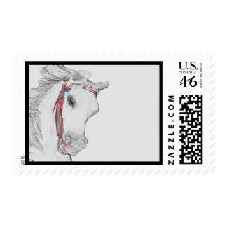 Beautiful Carousel Horse Postage Stamp