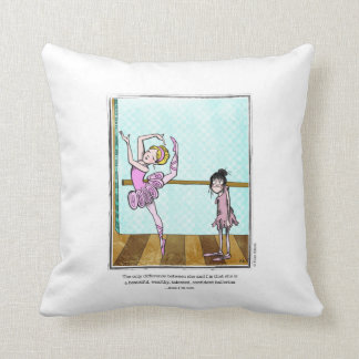 BEAUTIFUL cartoon by Ellen Elliott Throw Pillow