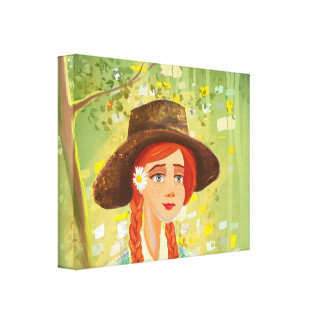 beautiful cartoon girl Stretched Canvas