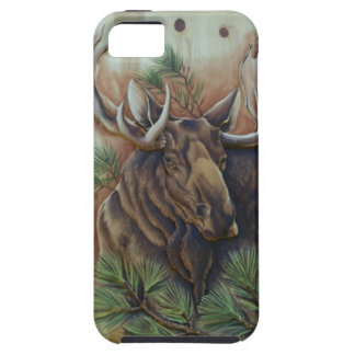 Beautiful Carved Wood of Moose on iPhone 5 Case