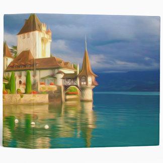 Beautiful castle Oberhofen on the Thun lake, Switz Binder