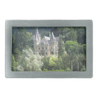 Beautiful castle on shore of Lake Thun Rectangular Belt Buckles