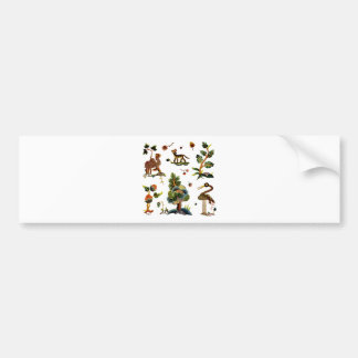 Beautiful Castlemaine Jacobean Embroidery Bumper Sticker
