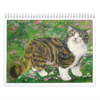beautiful cat calendar