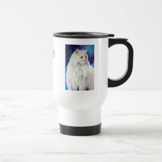 Beautiful Cat Lovers Add Your Name Travel Mug