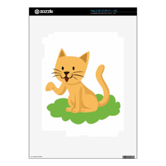 beautiful cat meowing and waving decals for iPad 2