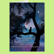 Beautiful Cat Poem Sympathy Card