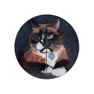 Beautiful Cat Round Clock