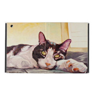 Beautiful Cat With An Outstretched Arm Yellow Hued iPad Cover