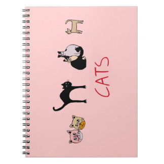 beautiful cats, meowmeow notebook