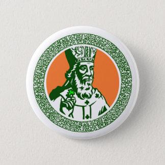 Beautiful Celtic art image of St. Patrick Button