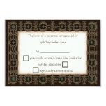 Beautiful Celtic Knot Border Wedding RSVPs Card