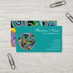 Beautiful Celtic Mandala with Colorful Swirls Business Card