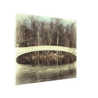 Beautiful Central Park Bridge Canvas Print