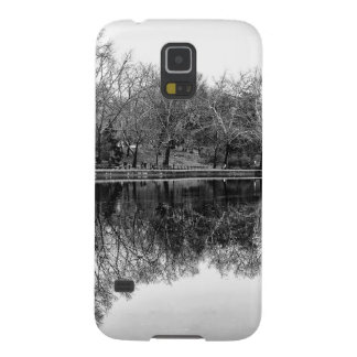 Beautiful Central Park Landscape in Black & White Galaxy S5 Case