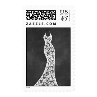 Beautiful Chalkboard Wedding Stamp