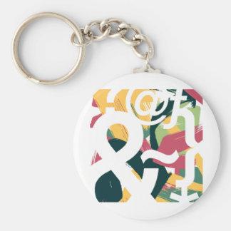 Beautiful Characters Basic Round Button Keychain
