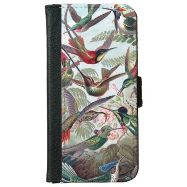 Beautiful charming colorful hummingbird iPhone 6/6s wallet case