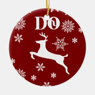Beautiful Cherokee Christmas Deer Ornament