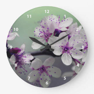 Beautiful Cherry Blossom Large Clock