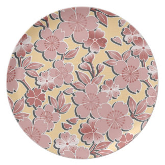 Beautiful cherry blossoms party plate