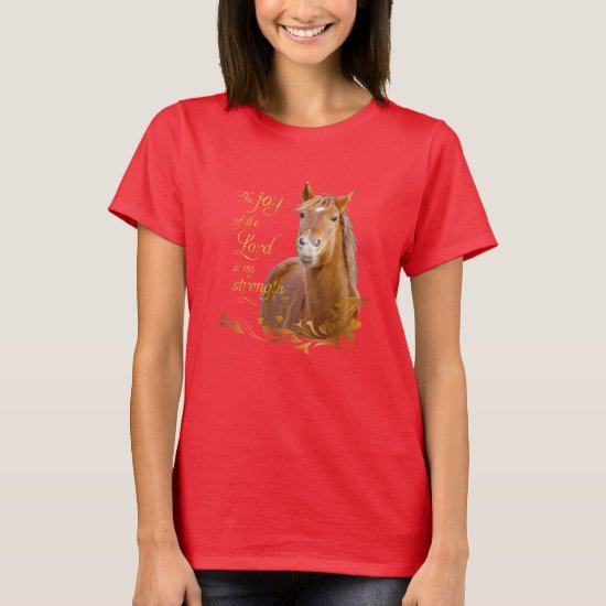Beautiful Chestnut Horse Bible Verse T-shirt