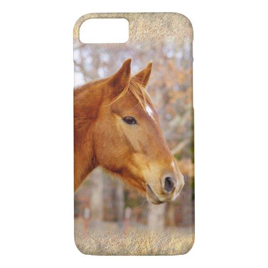 Beautiful Chestnut Horse iPhone 7 Case