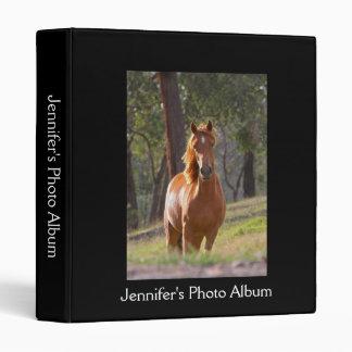 Beautiful chestnut horse photo album custom 3 ring binder