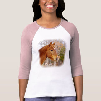 Beautiful Chestnut Horse Pink T-Shirt
