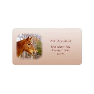 Beautiful Chestnut Horse Return Address Labels