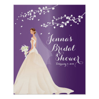 Beautiful Chic Bride Bridal Shower Poster