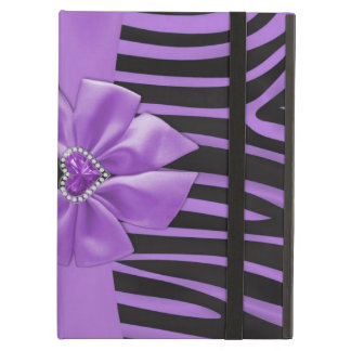 Beautiful chic elegant silk fabric effects zebra iPad air cover