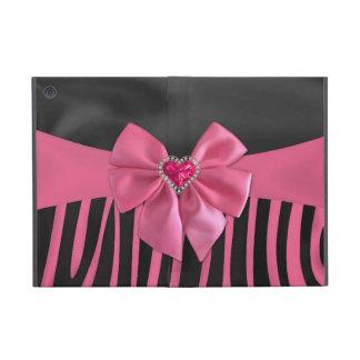 Beautiful chic elegant silk fabric effects zebra covers for iPad mini