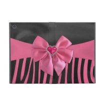 Beautiful chic elegant silk fabric effects zebra iPad mini cover